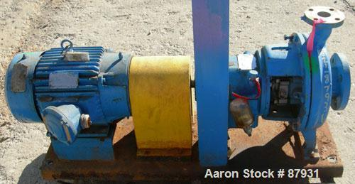"""Used- Ingersoll Rand Centrifugal Pump, Size 3x1.5x10, 316 Stainless Steel. 3"""" inlet, 1-1/2"""" outlet. Rated approximately 275 ..."""