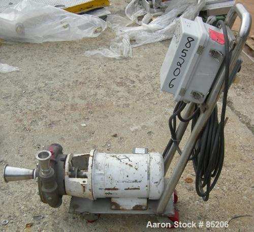 """Used- Kirst Centrifugal Pump, Type 9 HA, 316 Stainless Steel. 2-1/2"""" NPT inlet/outlet. Rated approximately 100 gallons per m..."""