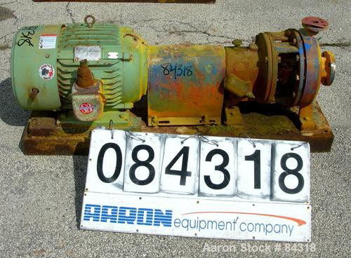 Used- Stainless Steel Labour Centrifugal Pump, Model A051V