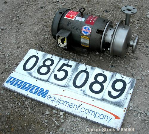 """Used- R. S. Corcoran Centrifugal Pump, Model 4000D, 316 Stainless Steel. 1-1/2"""" inlet, 1"""" outlet. Approximate capacity 56 ga..."""