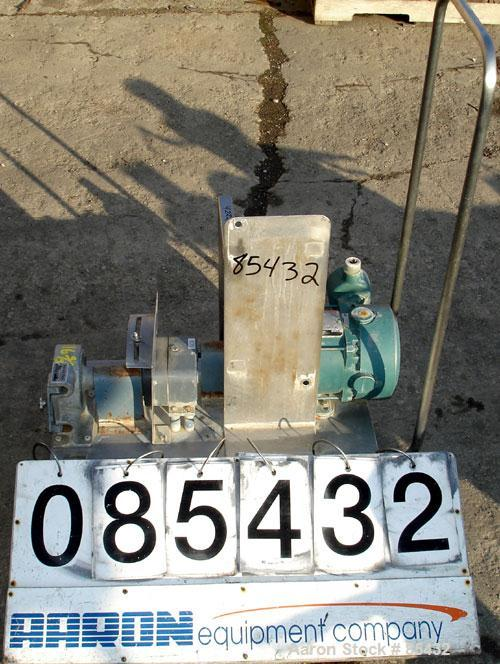 "Used- Randolph Peristaltic Hose Pump, Model 610, Aluminum Housing. Two (2) tube sizes. 1/2"" tubing rated 190 gallons per hou..."
