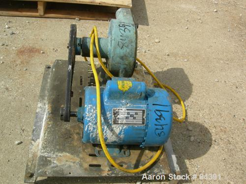 "Used- Randolph Peristalic Pump, Model 750, Carbon Steel. Hose capacities 1-1/16"" OD, 3/4"" ID to 15/16"" OD, 5/8"" ID. Rated 10..."