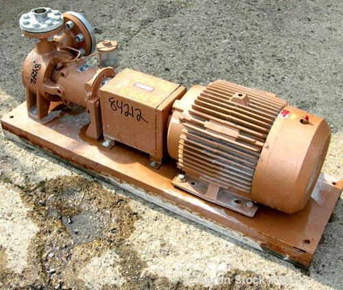 """Used- Roth Regenerative Turbine Pump, Model 6TCP2261SA, 316 Stainless Steel. 3"""" Inlet, 2"""" outlet. Approximate capacity 45 ga..."""