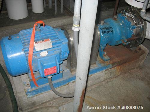 "Used-One (1) Ingersoll Rand centrifugal pump, type SHOC. A744 stainless steel construction, 2"" x 1"" x 10"" impeller, on base ..."