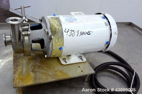 Used- L.C. Thomsen & Sons Centrifugal Pump, Model 404TS1, 316 Stainless Steel. Approximately 15 gallons per minute at 15' he...