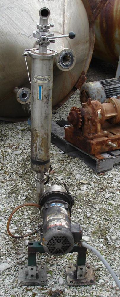 "USED: Thomsen centrifugal pump, model 61322-NA, 316 stainless steel. 2"" tri clamp inlet, 1-1/2"" tri clamp outlet. Approximat..."