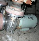 Used:  Waukesha centrifugal pump, model 2065, stainless steel. 2-1/2