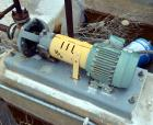 Used- Stainless Steel Flowserve Durco Mark 3 Centrifugal Pump, Model MK3 Standard