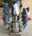 Used- Grundfos Pump System, 316 Stainless Steel, Consisting Of: (2) Grundfos vertical multistage centrifugal pumps, model A9...