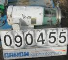 Used- Tri Clover Centrifugal Pump, Model C218MME25T-S, 316 stainless steel. Approximately 160 gallons per minute at 220' hea...