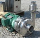 Used- Tri-Clover Centrifugal Pump, model C439MDG21TA-S,316 stainless steel. Approximately 400 gallons per minute at 250' he...