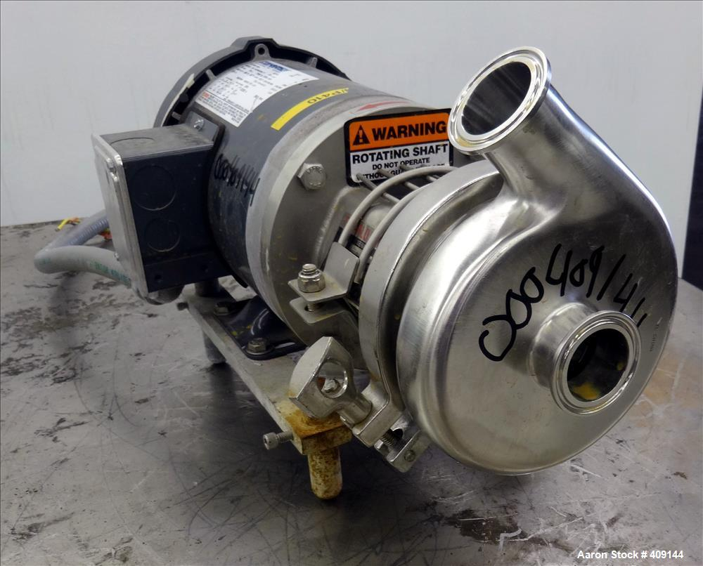 """Used- Top-Flo Centrifugal Pump, Model C114-56C, 316 Stainless Steel. Approximate 40 gallons per minute at 40' head. 2"""" Tri-c..."""