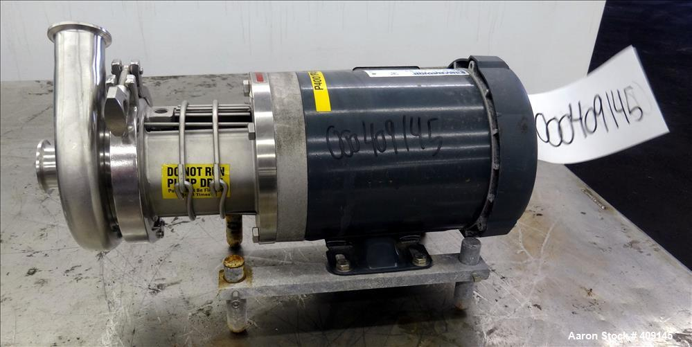 "Used- Top-Flo Centrifugal Pump, Model C114-56C, 316 Stainless Steel. Approximate 40 gallons per minute at 40' head. 2"" Tri-c..."