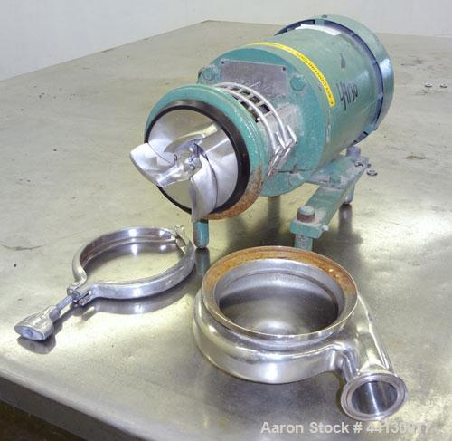 """Used- Tri-CloverCentrifugalPump, Model C114MD56T-S,316 Stainless Steel.1-1/2"""" Tri-clamp inlet/outlet. Approximate capaci..."""