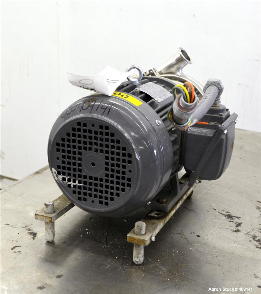 "Used- Top-Flo Centrifugal Pump, Model C216-18TC, 316 Stainless Steel. Approximate 40 gallons per minute at 80' head. 2"" Tri-..."