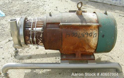 Used- Stainless Steel Tri-Clover Centrifugal Pump, Model C216