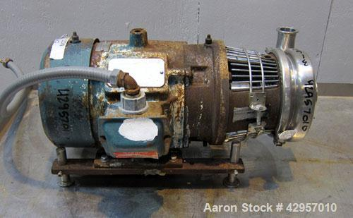 Used- Stainless Steel Tri-Clover Centrifugal Pump, Model C216MD18T-S