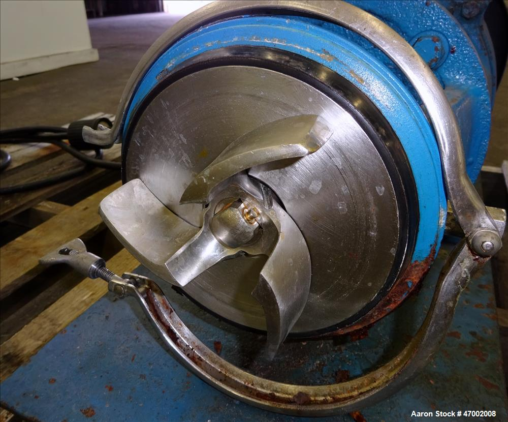 Used- Tri-Clover Centrifugal Pump, Model C216MD21T-S-7-1/2-36, 316 Stainless Ste