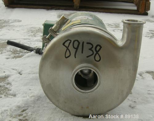 Used- Tri-Clover Centrifugal Pump, Model C216MD56T-S, 316 Stainless Steel.