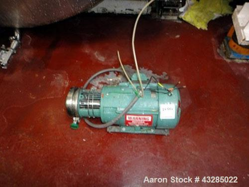 Used- Stainless Steel Tri-Clover Centrifugal Pump, Model C216MDG21T-S-KX