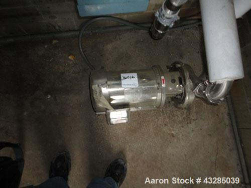 Used- Stainless Steel Tri-Clover Centrifugal Pump, Model C216MDG21T-S