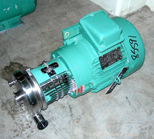 "Used- Tri-Clover Centrifugal Pump, Model C216MDG21T20ND04Y23SP, 316 Stainless Steel. 6"" impeller, 2"" tri-clamp inlet. Approx..."