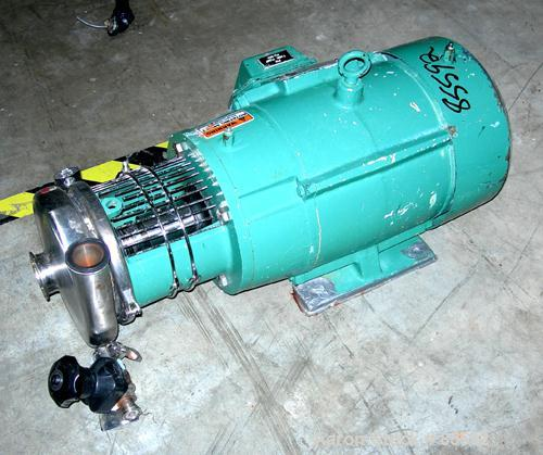 "Used- Tri-Clover Centrifugal Pump, Model C216MDG21T20ND01Y18SP, 316 Stainless Steel. 6"" impeller, 2"" tri-clamp inlet, 1-1/2""..."