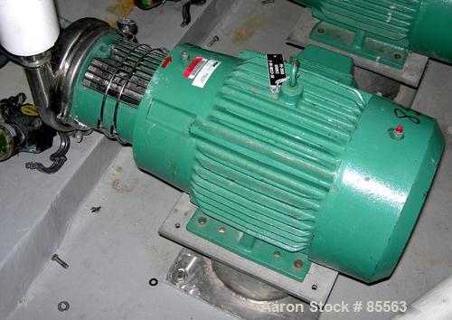 """USED: Tri Clover centrifugal pump, model C216MDG21TL20C4V04Y22PL, 316 stainless steel. 6"""" impeller, 2"""" tri clamp inlet, 1-1/..."""