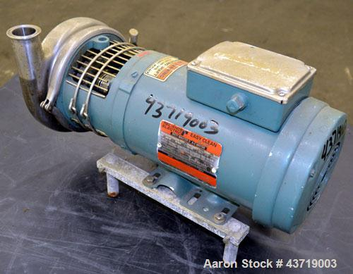 Used- Stainless Steel Tri Clover Centrifugal Pump, Model C216MDG56T-S-KX