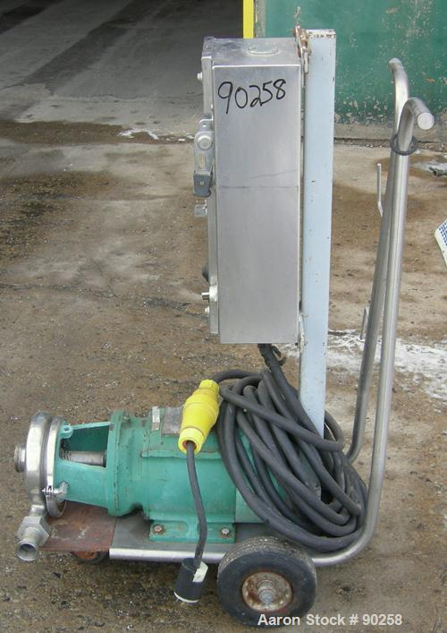 Used- Stainless Steel Tri Clover Centrifugal Pump, Model C216TD18T-S