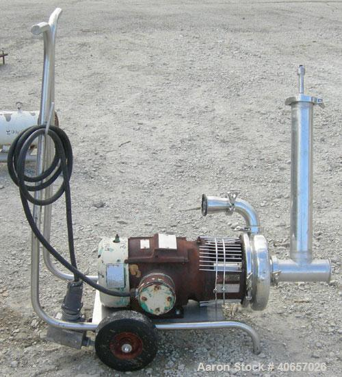 Used- Stainless Steel Tri-Clover Centrifugal Pump, Model C328MD18T-S-5-18