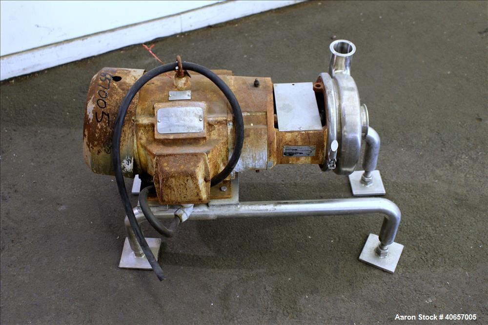 Used- Stainless Steel Tri-Clover Centrifugal Pump, Model C328MD21T-S