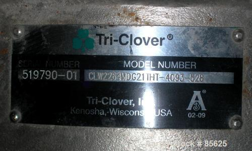 """Used- Tri Clover Centrifugal Pump, Model CLW2264MDG921THT-4093-528, 316 Stainless Steel. 6"""" impeller, 2-1/2"""" tri clamp inlet..."""
