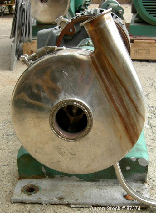 Used- Stainless Steel Tri-Clover Centrifugal Pump, Model SP216MH-S