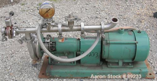 Used: Stainless Steel Tri Clover centrifugal pump, model SP216MY-S