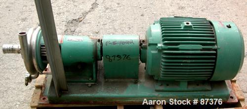 Used- Tri-Clover Tri-Flo Centrifugal Pump, model SP218MH-S, 316 stainless steel. 2'' tri-clamp inlet, 1-1/2'' tri-clamp outl...