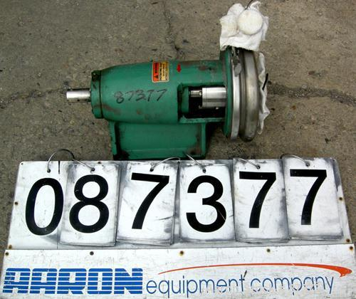 Used- Tri-Clover Centrifugal Pump, Model SP218MH-S, 316 Stainless Steel. Rated approximately 160 gallons per minute at 300' ...