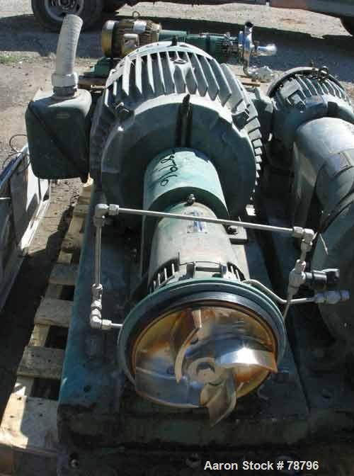 """Used- Tri-Clover Tri-Flo Centrifugal Pump, Model SP328M-4966-24, 316 Stainless Steel. 4"""" inlet, 2"""" outlet. Approximate capac..."""