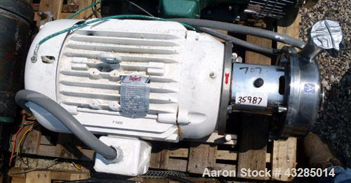 Used- Tri-Clover Centrifugal Pump, Stainless Steel