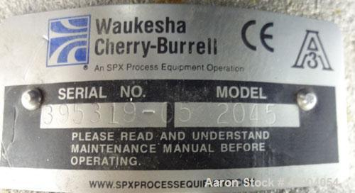 Used- Stainless Steel Waukesha Centrifugal Pump, Model 2045