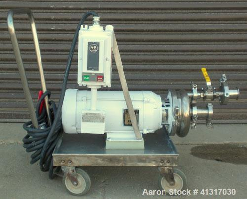 Used- Waukesha Centrifugal Pump, Model 2065, 316 Stainless Steel. Rated maximum 400 gallons per minute at 35 feet head. Appr...