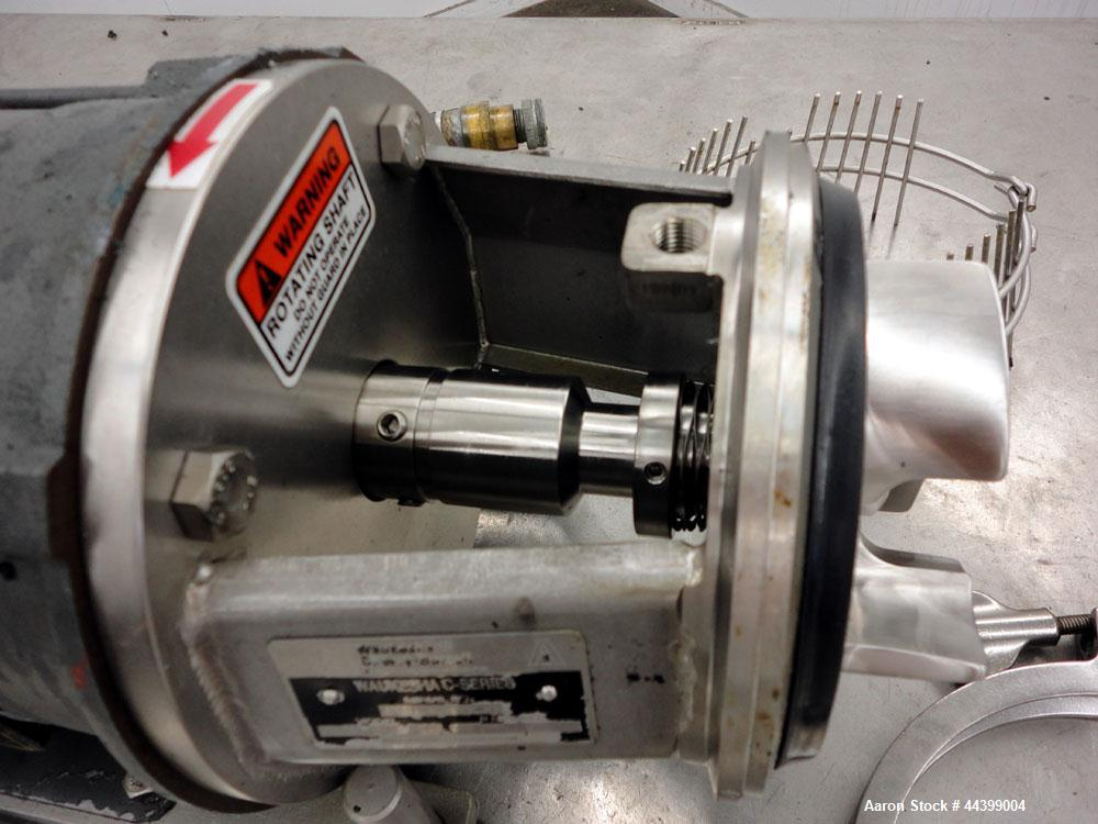 Used- Waukesha C-Series Centrifugal Pump, Model C-216, 316 Stainless Steel. Rated approximately 200 gallons per minute at 10...