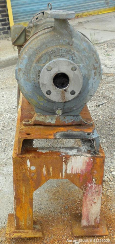 "Used- Worthington D-Line Centrifugal Pump, Model D1011. Size 2"" inlet x 1"" outlet x 9.90"" diameter impeller, stainless steel..."