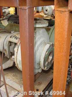 "USED: Worthington centrifugal pump, model D1011. Size 3"" inlet x 1-1/2"" outlet x 10"" diameter impeller, 316 stainless steel...."