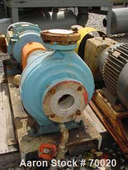 """USED: Worthington centrifugal pump, model D1011. Size 3"""" inlet x 1-1/2"""" outlet x 10"""" diameter impeller, 316 stainless steel...."""