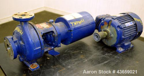 Used- Worthington Centrifugal Pump, Model D1012, Size 1.5 X 1 X 6, 316 Stainless steel. Rated approximate 40 gallons per min...