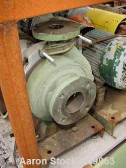 "Used- Worthington Centrifugal Pump, Model D1011. Size 3"" inlet x 2"" outlet x 8"" diameter impeller, 316 stainless steel. Rate..."