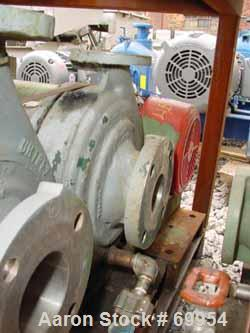 """Used- Worthington Centrifugal Pump, Model D1011. Size 3"""" inlet x 1-1/2"""" outlet x 8"""" diameter impeller, 316 stainless steel. ..."""