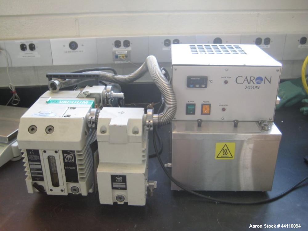 Used- Leybold Trivac type D16B, 16 m^3/hr flow rate. Pressure limit < 1 x 10^-4. Fab #91265-1 L911101444 w/ bath