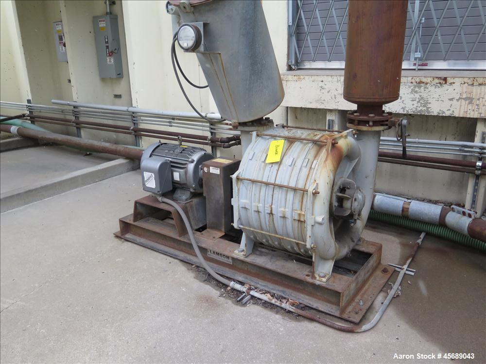 Used-National Turbine Vacuum Pump Skid with 30 HP motor